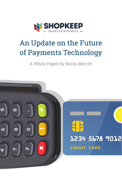An Update on the Future of Payments Technology