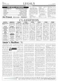 LegaLs CLassiFieds - Sidney Sun Telegraph