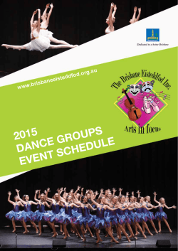 dance groups schedule - brisbaneeisteddfod.org.au