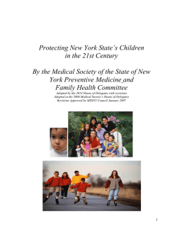 Youth at Risk - Medical Society of the State of New York