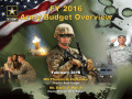 FY2016 Army Budget Overview