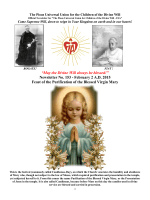 """""""May the Divine Will always be blessed!"""" Newsletter No. 153"""