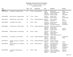 Winnebago County Circuit Court Civil Docket