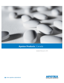 Apotex Products Canada