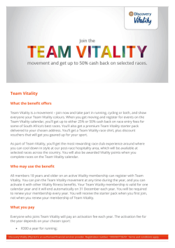 Team Vitality benefit guide