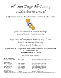 Middle School Honor Band Auditions