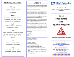 Registration Form - University of Florida Family Youth and