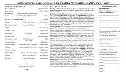 Bulletin - Paradise Valley Seventh