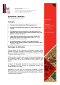 QUARTERLY REPORT Highlights Summary of