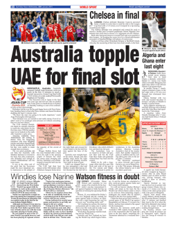Chelsea in final - Gulf Daily News