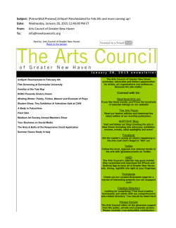 this issue - The Arts Council of Greater New Haven