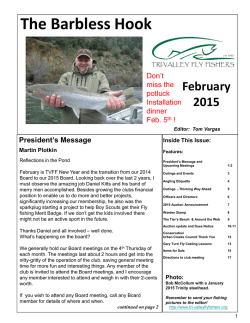 Latest Barbless Hook Newsletter - Tri