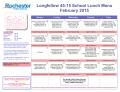 Longfellow 45-15 District-Wide Elementary Menu