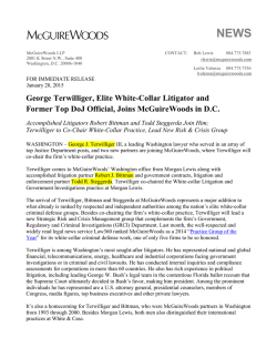 George Terwilliger, Elite White-Collar Litigator and Former