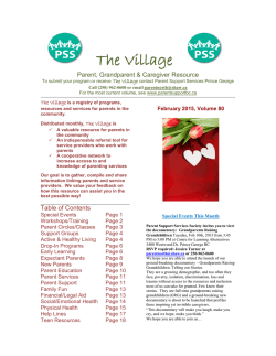 The Village - Parent Support Services of BC