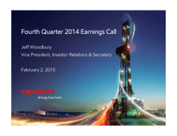 Fourth Quarter 2014 Earnings Call