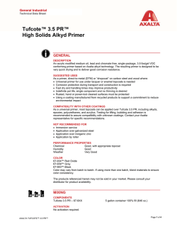 Tufcote™ 3.5 PR™ High Solids Alkyd Primer