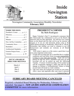 February Newsletter - Newington Community Association