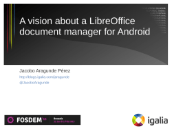 A vision about a LibreOffice document manager for Android