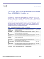 End-of-Sale and End-of-Life Announcement for the Cisco UCS C24