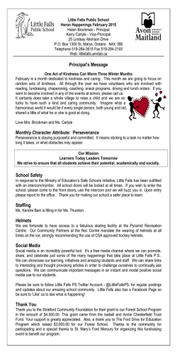 Newsletter - Little Falls Public School