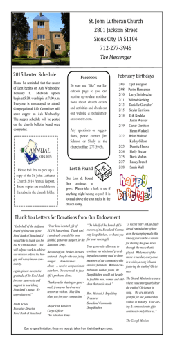 monthly messenger - St John Lutheran Church