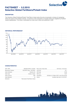 FACTSHEET - Solactive Global Fertilizers/Potash Index 30.1.2015