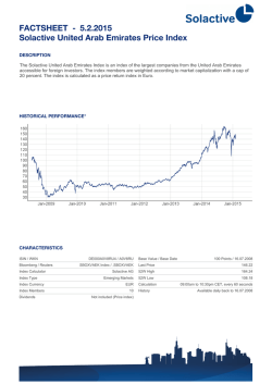 FACTSHEET - Solactive United Arab Emirates Price Index 30.1.2015