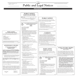 Public and Legal Notices