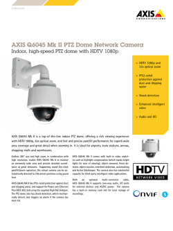 AXIS Q6045 Mk II PTZ Dome Network Camera