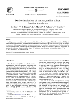 Device simulations of nanocrystalline silicon thin