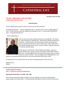 Cathedral Life 1-29-15 - The Cathedral of St. Andrew