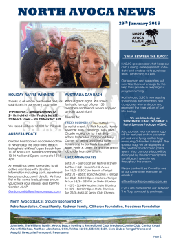 latest newsletter - North Avoca Beach Surf Life Saving Club