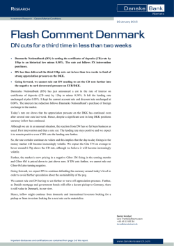 Flash Comment Denmark - DN cuts for a third time in
