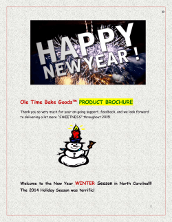 WinterBrochure-2015 - Ole Time Bake Goods