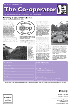 Read The Co-operator February 2015 - East End Food Co-op