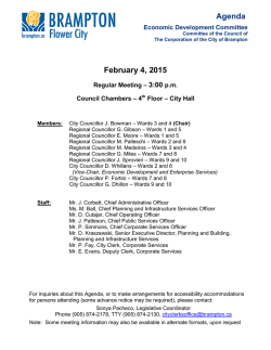 Economic Development Committee Agenda for