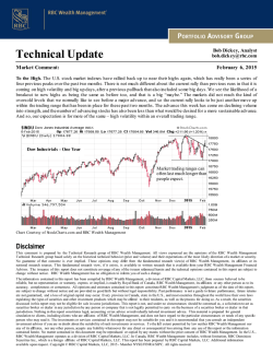 Daily Technical Update - RBC Wealth Management USA
