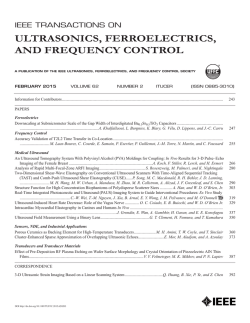 Table of Contents - IEEE Ultrasonics, Ferroelectrics and Frequency