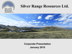 Presentation - Silver Range Resources Ltd.