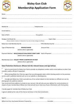 Bisley Gun Club Membership Application Form