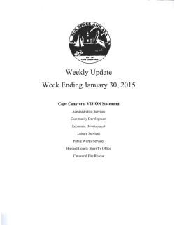 Update for Week Ending January 30, 2015