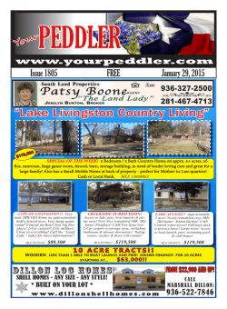 """Lake Livingston Country Living"" - East TX Peddler, Livingston, TX"