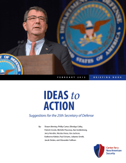 IDEAS to ACTION - Center for a New American Security