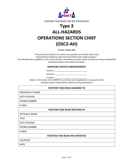 Operations Section Chief - Type 3 - All