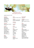 Edmonton 2015 Participating Wineries