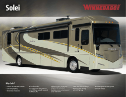 Why Solei? - Winnebago Industries