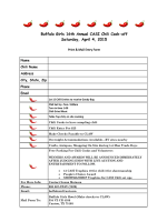 Buffalo Girls 16th Annual CASI Chili Cook-off