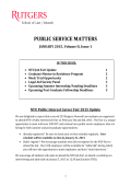 PUBLIC SERVICE MATTERS - Rutgers School of Law