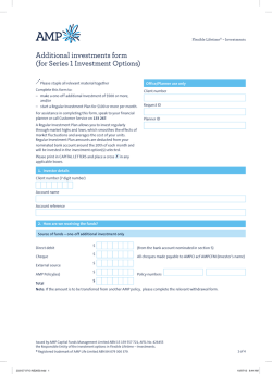 Additional investments form (for Series 1 Investment Options)
